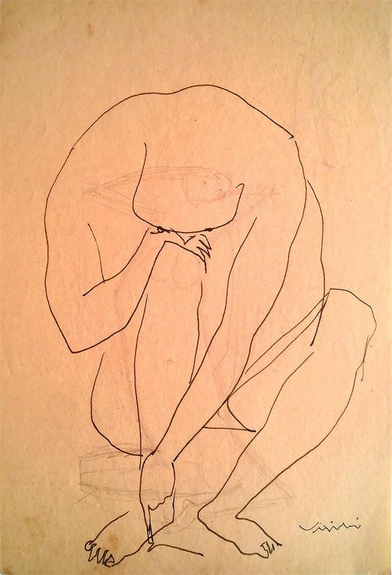 Mostra de desenhos isolados e de esboços e estudos de esculturas feitos por Virgílio Domingues