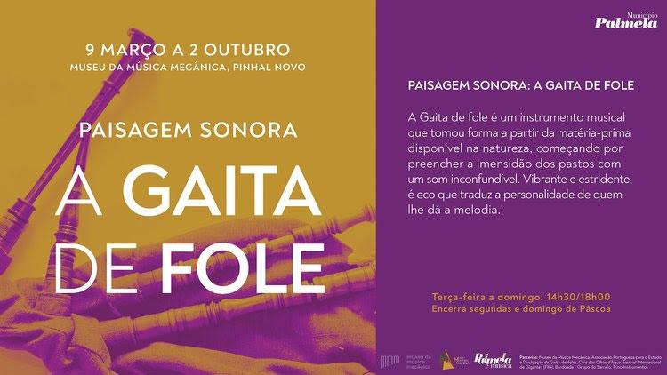 """""""Palmela é Música"""": Exposição sobre a Gaita de fole é inaugurada a 9 de março"""