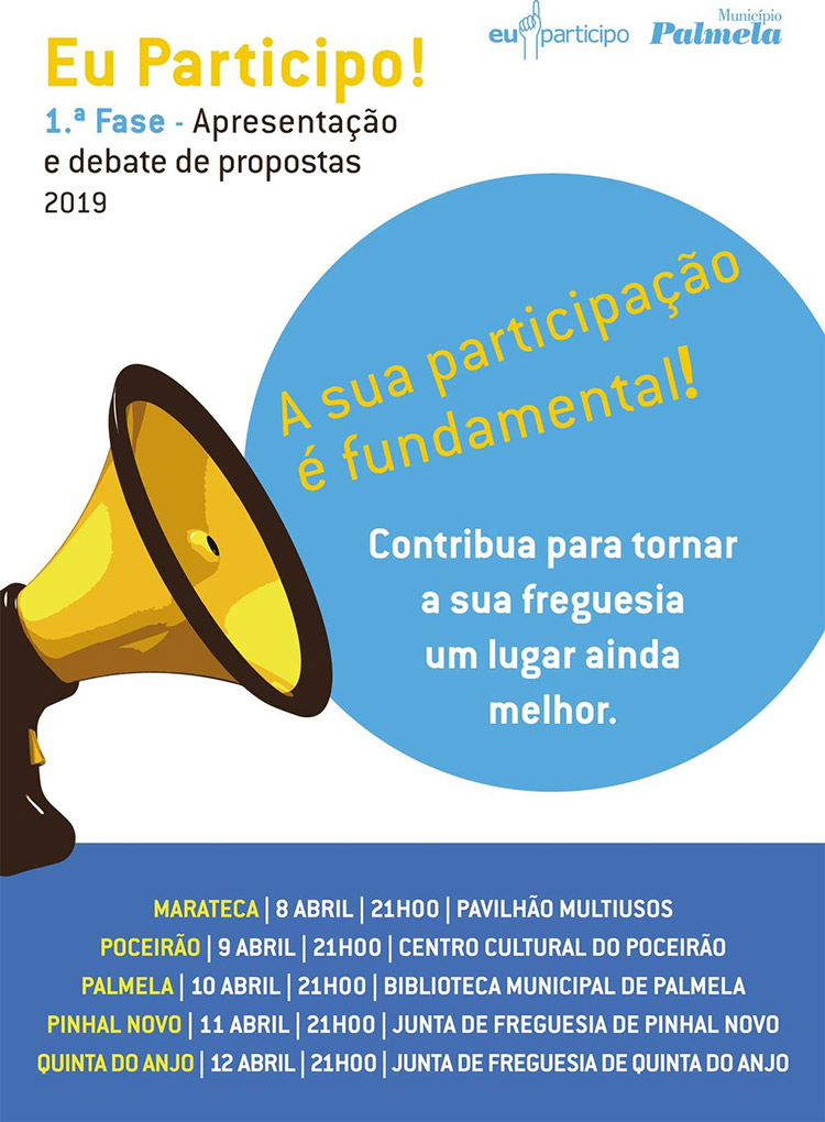 "Reuniões ""Eu Participo! 2019"" de 8 a 12 de abril | Participe!"