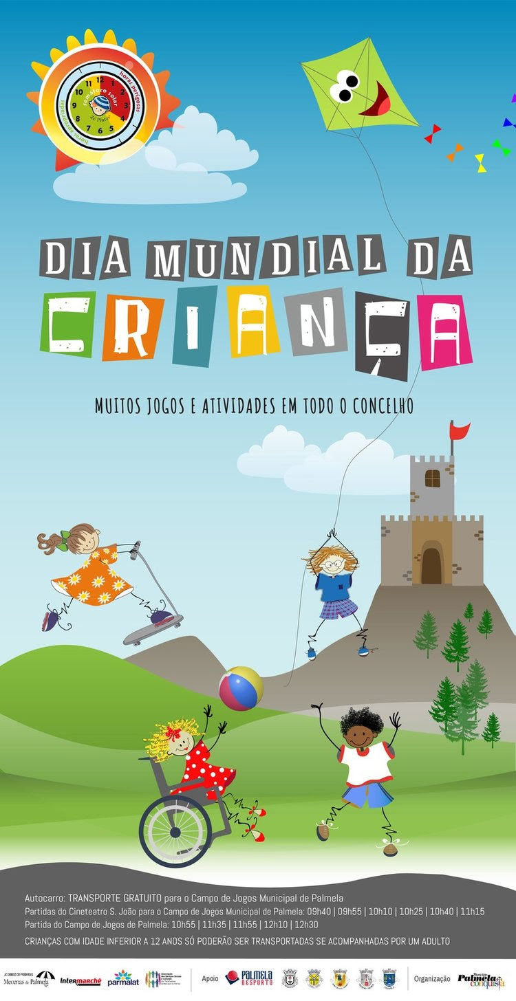 Palmela: Dia Mundial da Criança | Atividades e jogos em todo o Concelho