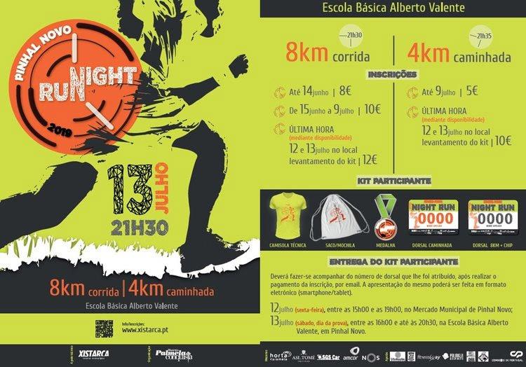 Pinhal Novo Night Run | Valor de inscrição reduzido até 14 de junho!