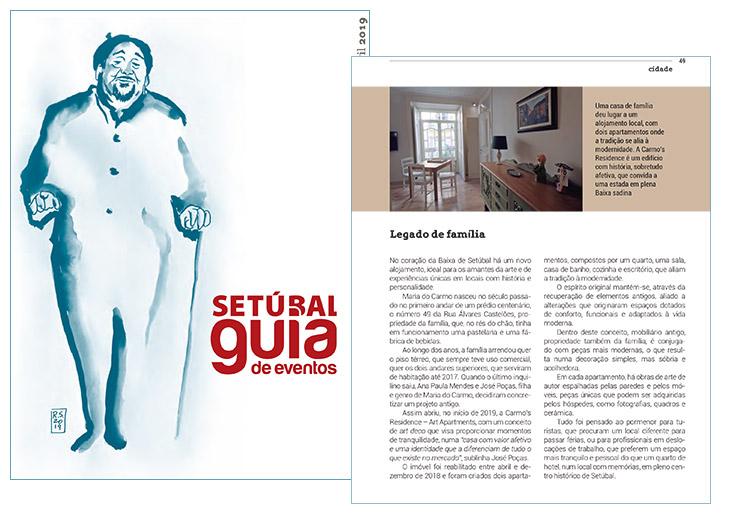 Carmo's Residence no GUIA DE EVENTOS N.º 125 - SETÚBAL