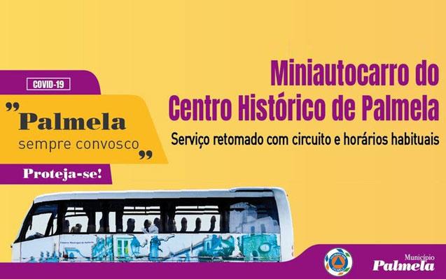Miniautocarro do Centro Histórico de Palmela | Retomado circuito e horários habituais