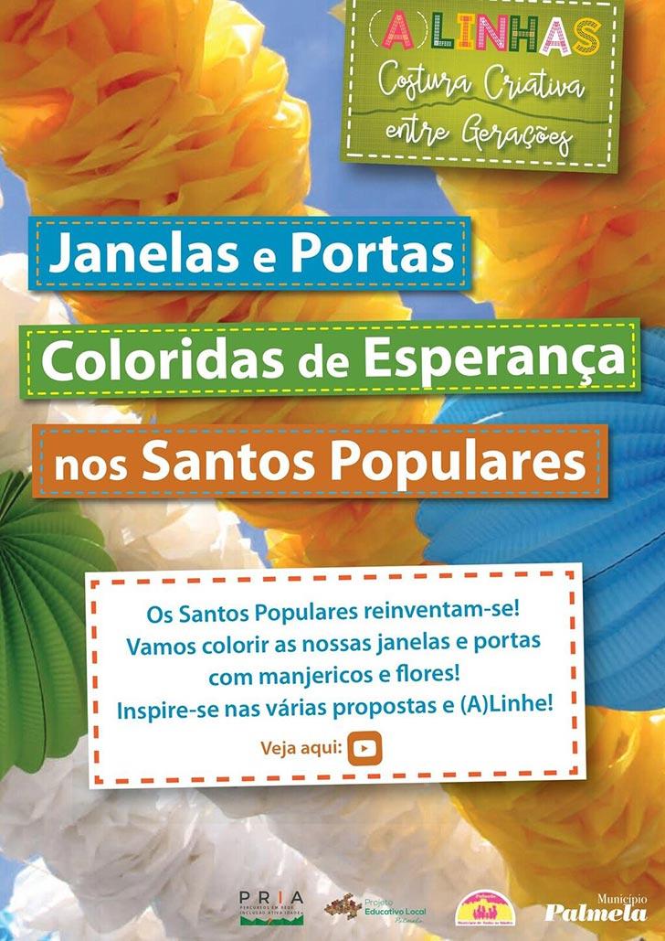 Nos Santos Populares vamos colorir portas e janelas? (A)Linhas?