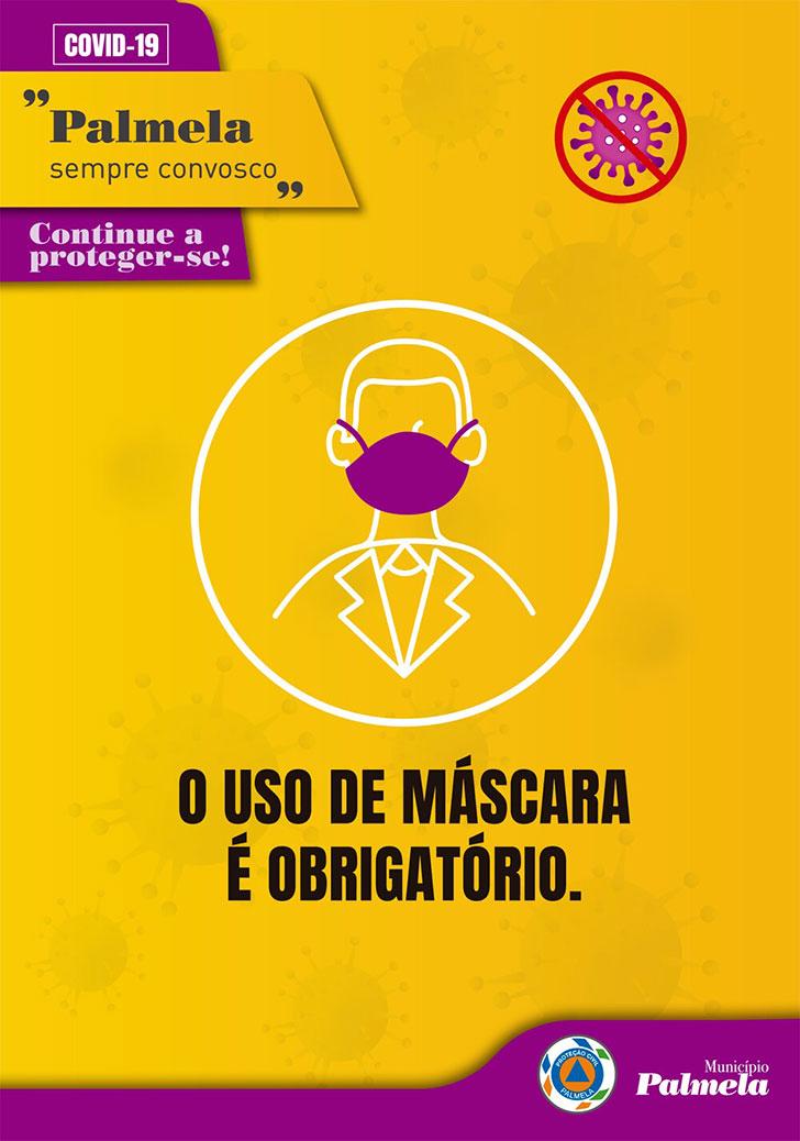 COVID-19: continue a proteger-se - obrigatório uso de máscara na rua
