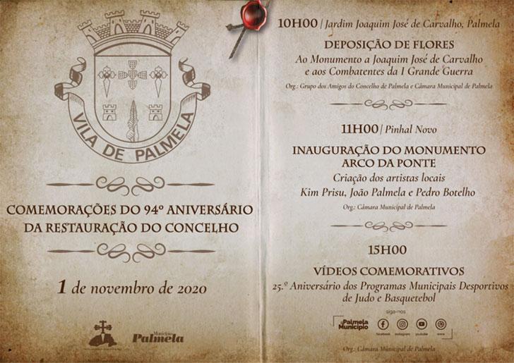 1 de novembro | 94.º Aniversário da Restauração do Concelho