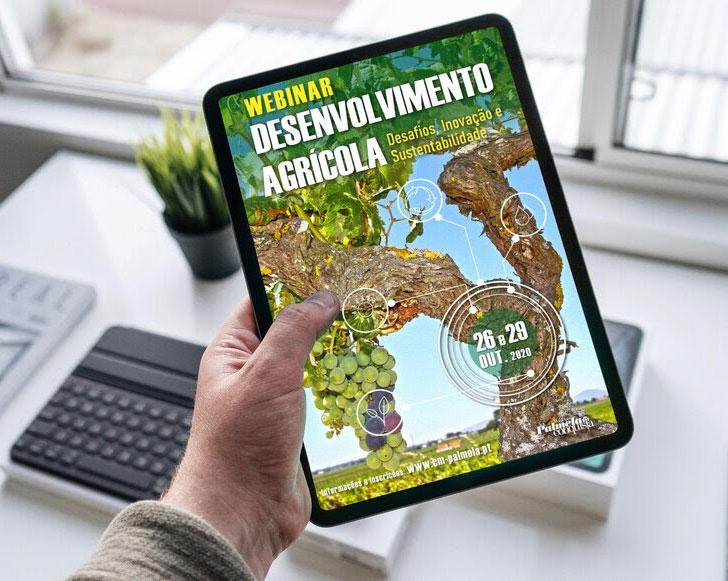 """É já dia 26! Inscreva-se no Webinar """"Desenvolvimento Agrícola - Desafios, Inovação e Sustentabilidade"""""""
