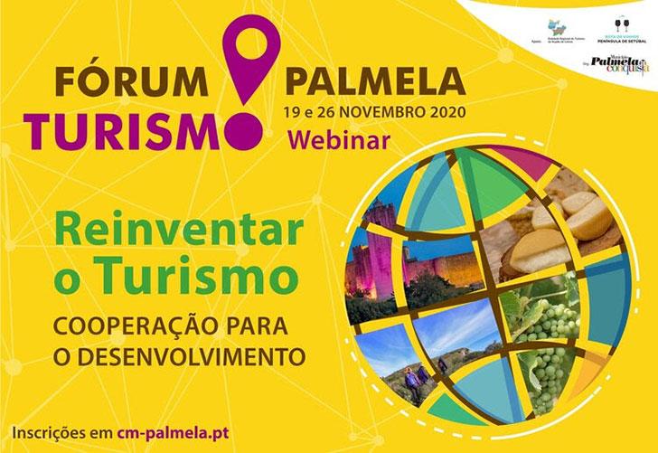 Dias 19 e 26 de novembro | Fórum Turismo Palmela em formato webinar!