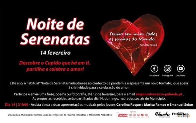 """""""Noite de Serenatas"""" em formato online, para celebrar Dia de São Valentim!"""